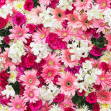 Fox Rolled Colorful Flowers Vinyl Photography Backdrops-Foxbackdrop