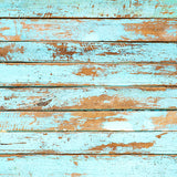 Fox Brown Wood Blue Retro Vinyl Newborn Backdrops