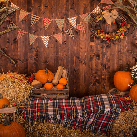 Fox Rolled Thanksgiving Day Vinyl Rolled Backdrops