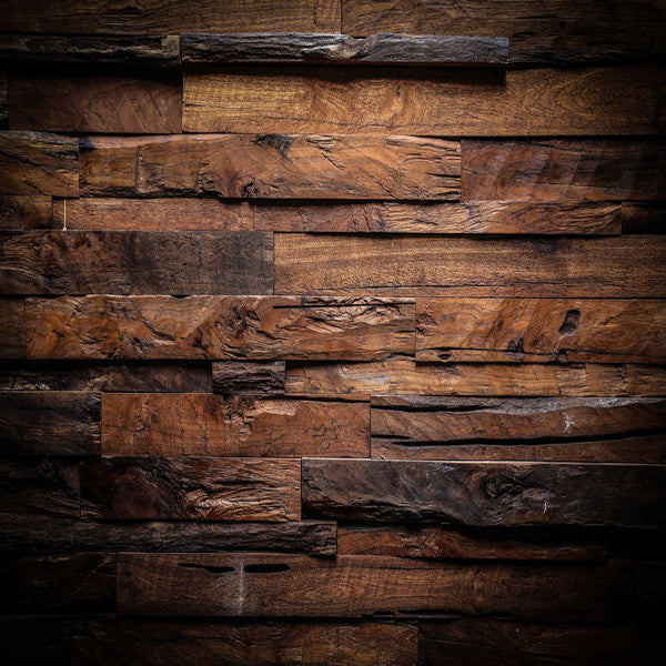 Fox Dark Brown Vintage Wood Newborn Vinyl Backdrop