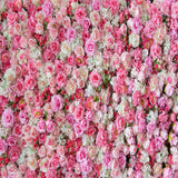 Fox Rolled Pink Flowers Wall Vinyl Wedding Backdrop