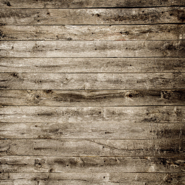 Fox Dark Brown and Grey Retro Wood Newborn Vinyl Backdrop-Foxbackdrop