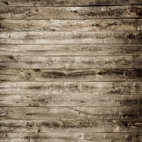Fox Dark Brown and Grey Barn Wood Newborn Vinyl Backdrop