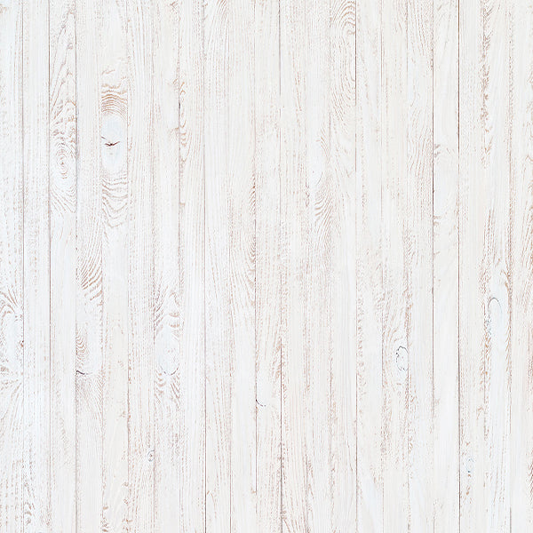 White Wood Retro Vinyl Photography Backdrop-Foxbackdrop