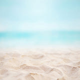 Fox blue Ocean Beach Summer Vinyl Backdrop-Foxbackdrop
