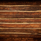 Fox Retro Brown Wood Wall Vinyl Backdrop for Photography-Foxbackdrop