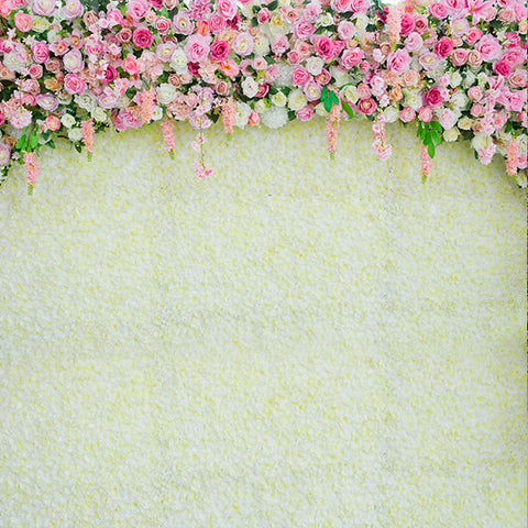 Fox Flowers Banner Newborn Maternity Vinyl Backdrop Cloth