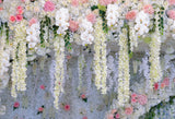 Fox Rolled Flowers Wall Wedding Vinyl Photos Backdrop-Foxbackdrop