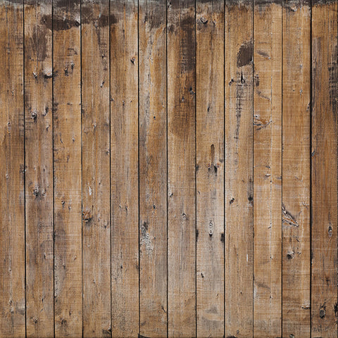 Fox Retro Wood Wall Brown Vinyl Photo Backdrop