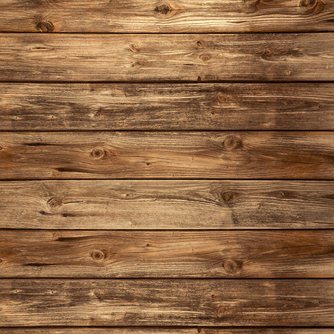 Fox Brown Wood Board Vintage Vinyl Photo Backdrop