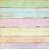 Fox Rainbow Color Wood Newborn Vinyl Backdrop