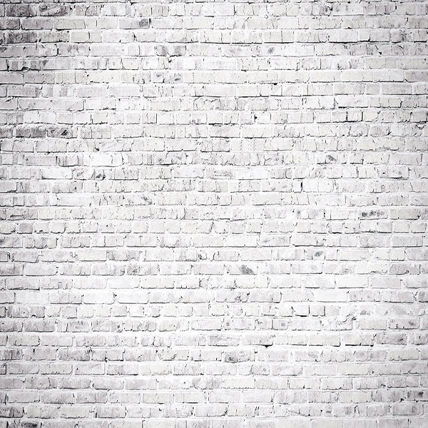 Fox Gray White Brick Wall Vinyl Backdrop-Foxbackdrop