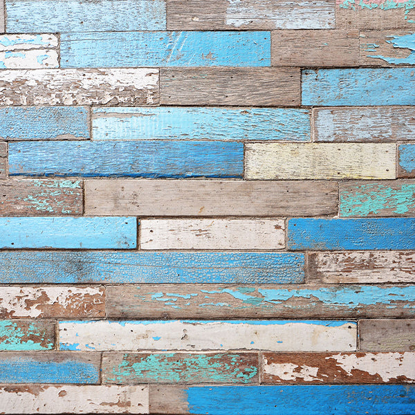 Fox Retro Blue Damaged Wooden Vinyl Backdrop-Foxbackdrop