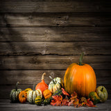 Fox Rolled Thanksgiving Wood Vinyl Photos Backdrop-Foxbackdrop