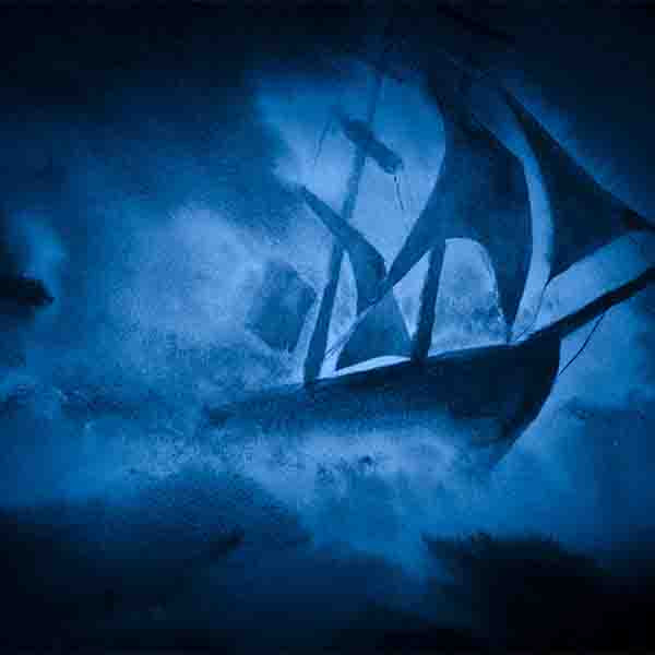 Fox Rolled Horrible Pirate Crew Undersea Vinyl Backdrops