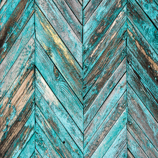 Fox Retro Turquoise Faded Paint Wood Newborn Vinyl Backdrop-Foxbackdrop