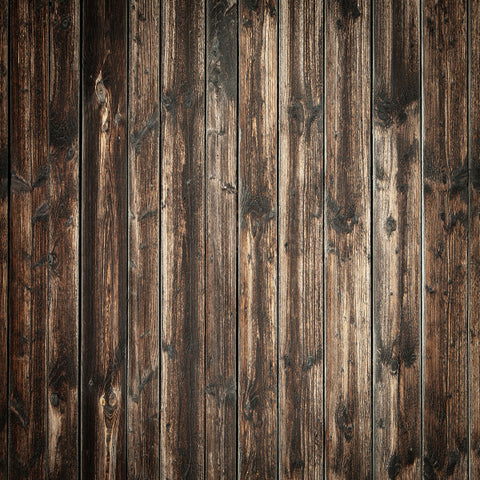 Fox Dark Brown Barn Wood Vinyl Photography Backdrop