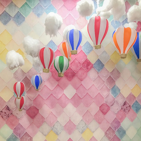 Fox Pink Clouds Children Birthday Vinyl Photo Backdrop