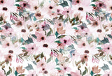 Fox Watercolor Pink Flowers Vinyl Backdrop-Foxbackdrop