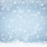Fox Rolled Winter Snow Drops Silver Vinyl Backdrops-Foxbackdrop