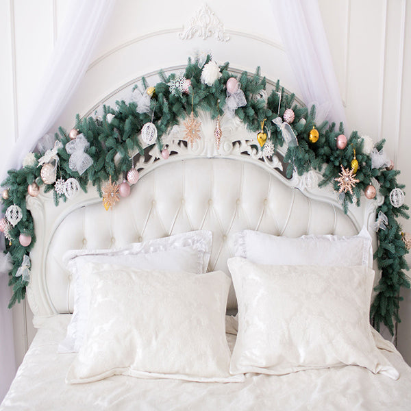 Fox Beds Christmas Children Vinyl Photography Backdrop-Foxbackdrop