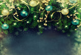 Fox Green Christmas Party Vinyl Photo Backdrop-Foxbackdrop