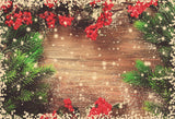 Fox Christmas Party Vinyl Photography Backdrop-Foxbackdrop