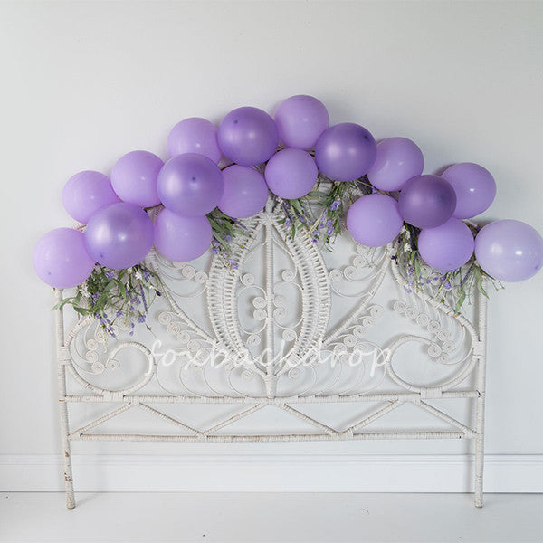 Fox Children Backdrop Purple Balloons Design by Kali-Foxbackdrop