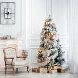 Fox Christmas Tree Gifts White Wall Vinyl Backdrops
