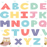 Fox Cartoon English Alphabet Children Vinyl Backdrop