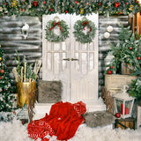 Load image into Gallery viewer, Fox Christams Trees Vinyl Photos Backdrop-Foxbackdrop