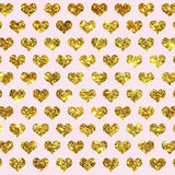 Fox Rolled Golden Heart Shape Vinyl Valentine's Day Backdrop-Foxbackdrop