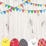 Fox Rolled Wood Easter Cartoon Vinyl Photography Backdrop-Foxbackdrop