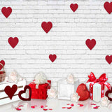 Fox Rolled Vinyl Valentine's Day Backdrop for Photography