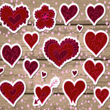 Fox Rolled Vinyl Wood Red Heart Valentine Day Photography Backdrop