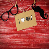 Fox Rolled Father's Day Glasses Beard Red Wood Vinyl Backdrop-Foxbackdrop