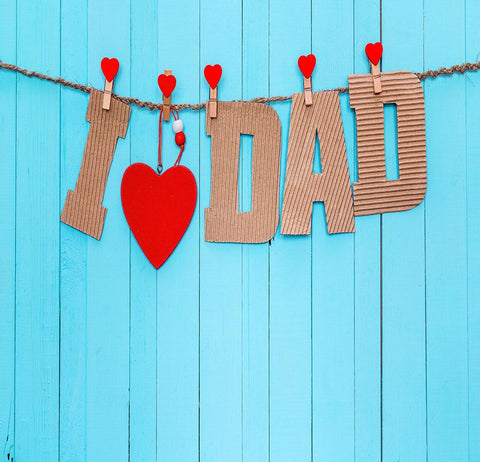 Fox Rolled Love Dad Father's Day Vinyl Backdrop