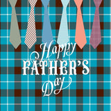 Fox Rolled Happy Father's Day Dad Ties Vinyl Backdrop-Foxbackdrop