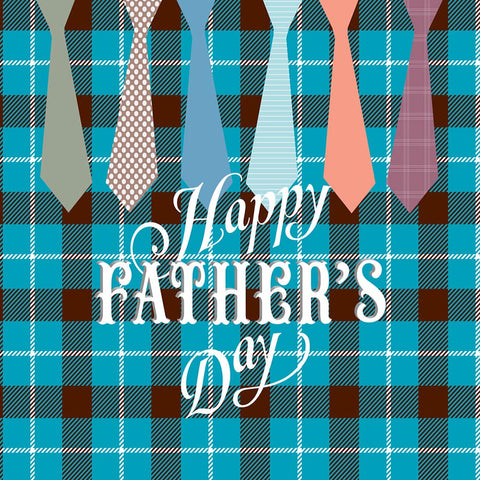 Fox Rolled Happy Father's Day Dad Ties Vinyl Backdrop