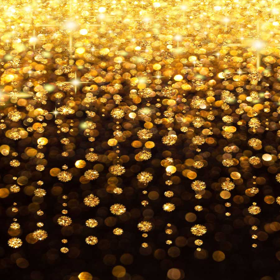 Fox Rolled Bokeh Golden Shiny Vinyl Photography Backdrop-Foxbackdrop