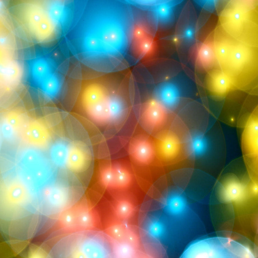 Fox Rolled Bokeh Shiny Lights Children Vinyl Backdrop-Foxbackdrop