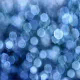 Fox Rolled Blue Glitter Bokeh Vinyl Photography Backdrop-Foxbackdrop
