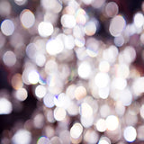 Fox Rolled Silver Bokeh Glitter Vinyl Photo Backdrop
