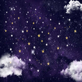 Fox Rolled Newborn Baby Night Sky Stars cloud Vinyl Backdrop-Foxbackdrop