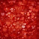 Fox Rolled Red Heart Valentine's Day Vinyl Backdrops-Foxbackdrop
