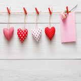 Fox Rolled Vinyl Wood Valentine's Day Photo Backdrops-Foxbackdrop