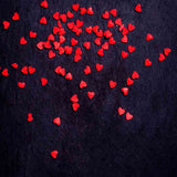 Fox Rolled Vinyl Navy Blue with Red Heart Valentine Backdrop-Foxbackdrop