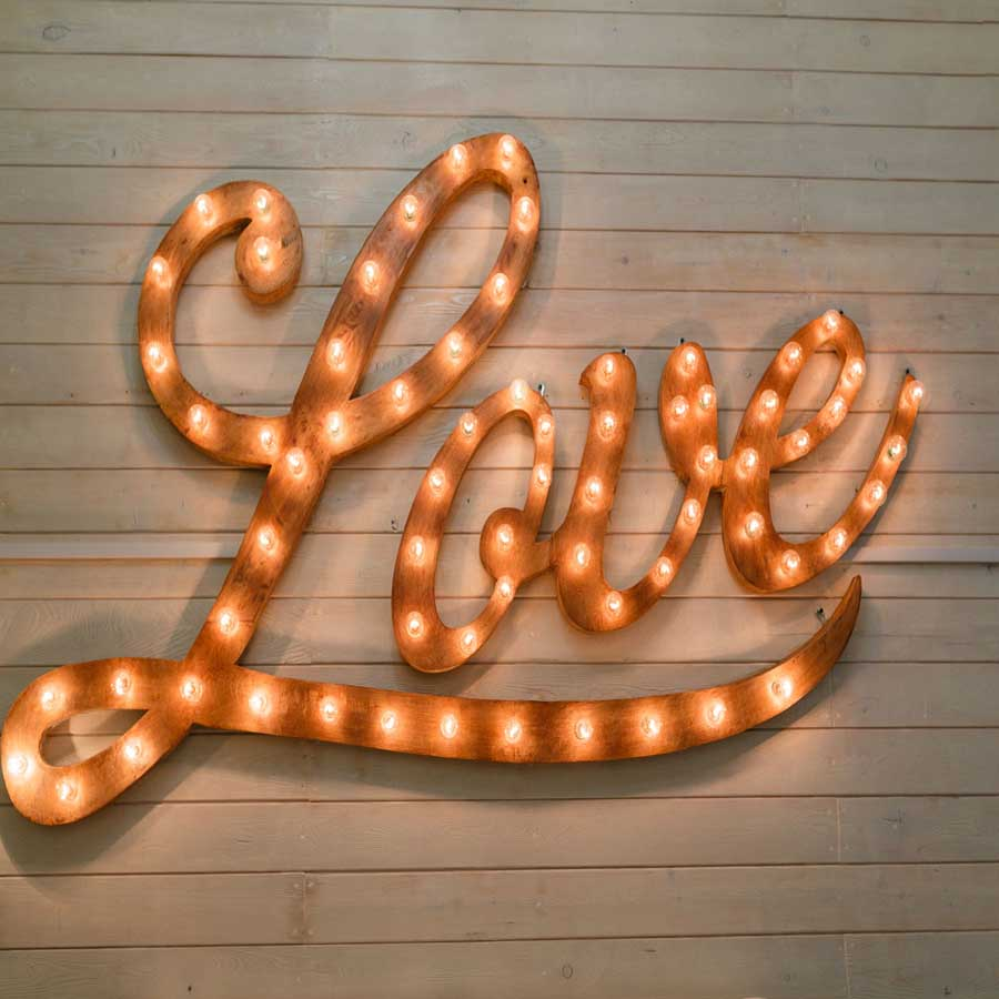 Fox Rolled Vinyl Love Lights Valentine Photography Backdrop-Foxbackdrop