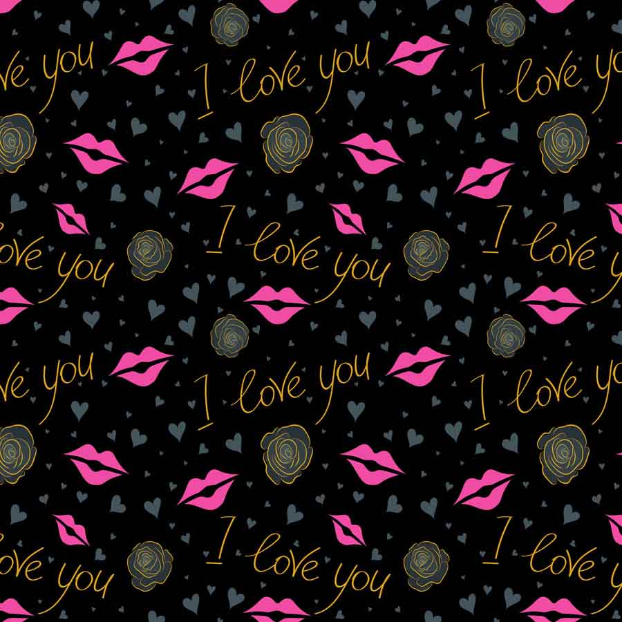 Fox Rolled Black I love you Vinyl Valentine Backdrop-Foxbackdrop