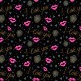 Load image into Gallery viewer, Fox Rolled Black I love you Vinyl Valentine Backdrop-Foxbackdrop